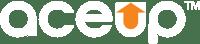 AceUp Logo White Orange